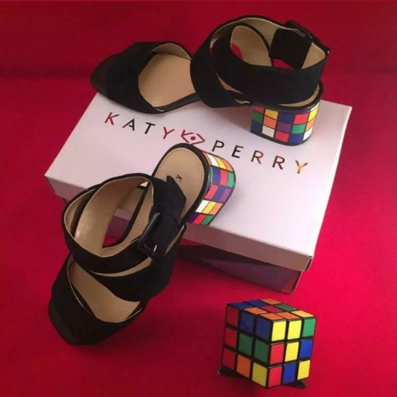 New in Box Katy Perry Rubic Cube Sandals